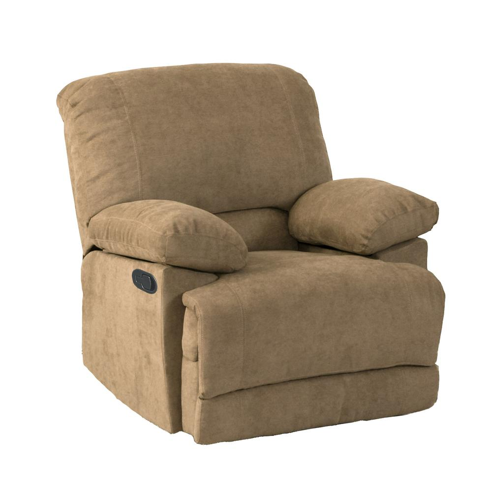 CorLiving Lea Brown Chenille Fabric Recliner