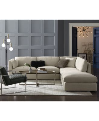 Kala 3-Pc. Fabric Sectional Sofa
