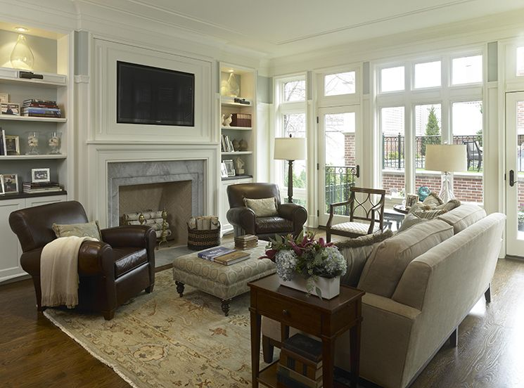 Classy and Neutral Family Room | Domicile | Pinterest | Family room