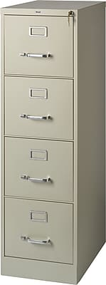 Staples 4-Drawer Letter Size Vertical File Cabinet, Putty (22-Inch) |  Staples