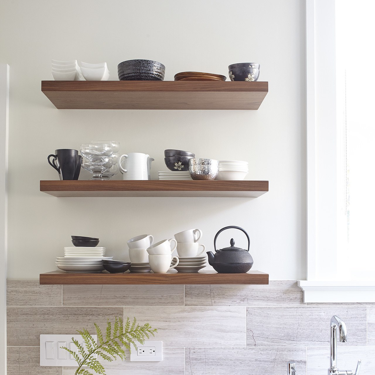 Designer Floating Shelves for the Kitchen