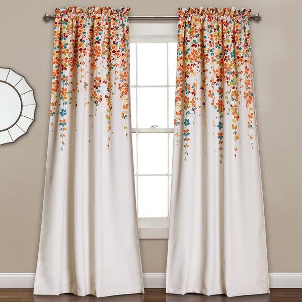 Latitude Run Cumberland Floral/Flower Room Darkening Thermal Rod Pocket  Curtain Panels & Reviews | Wayfair