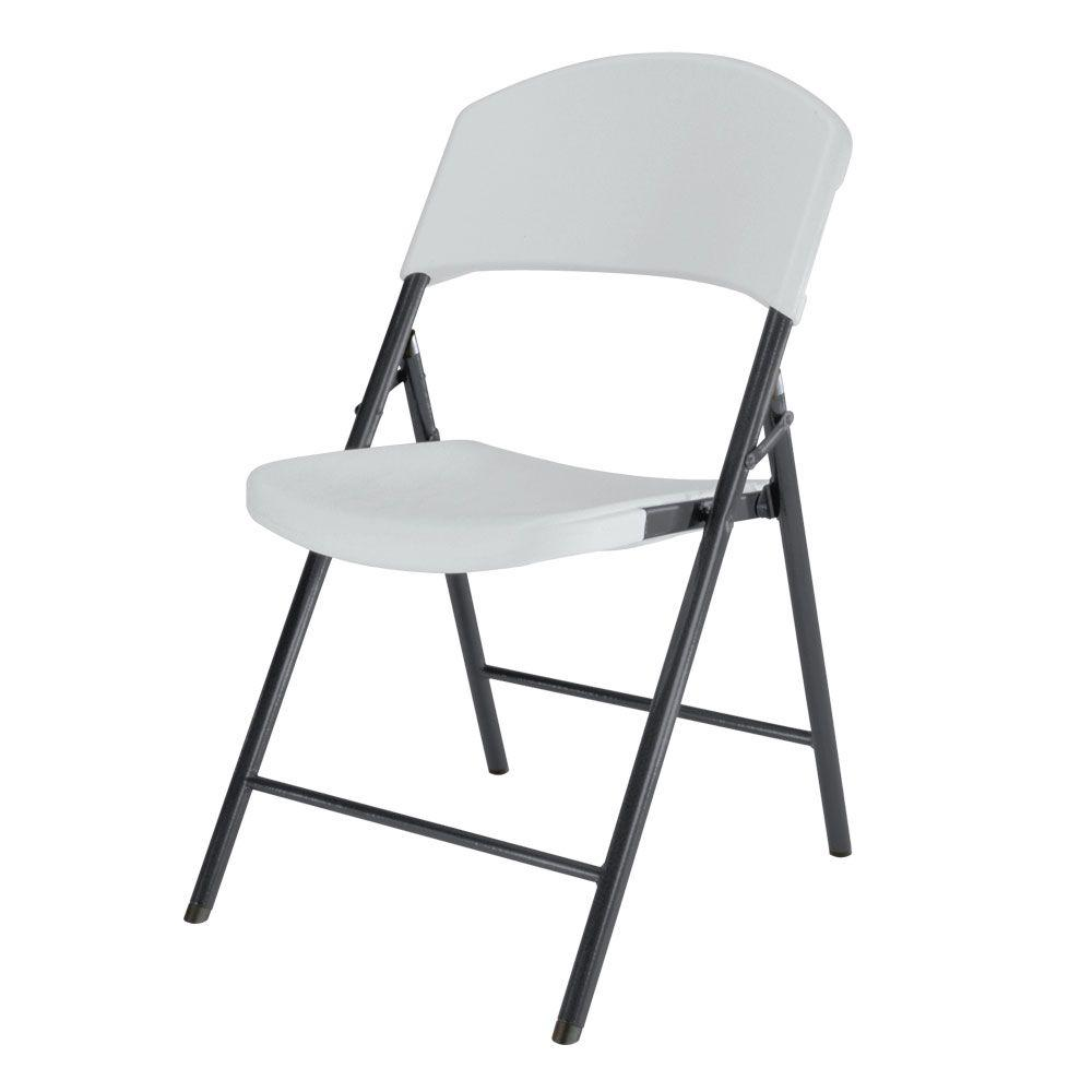 Lifetime White Granite Light Commercial Folding Chair (4-Pack)