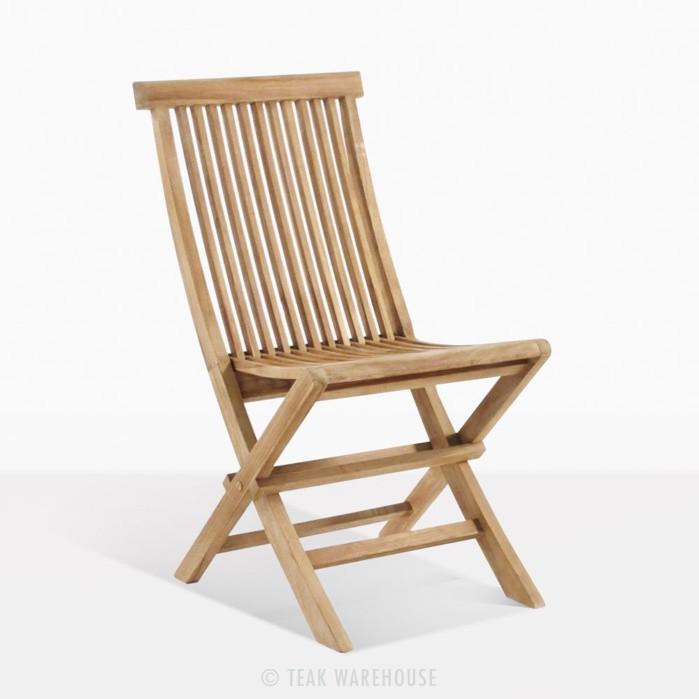 Prego Teak Folding Outdoor Dining Chair