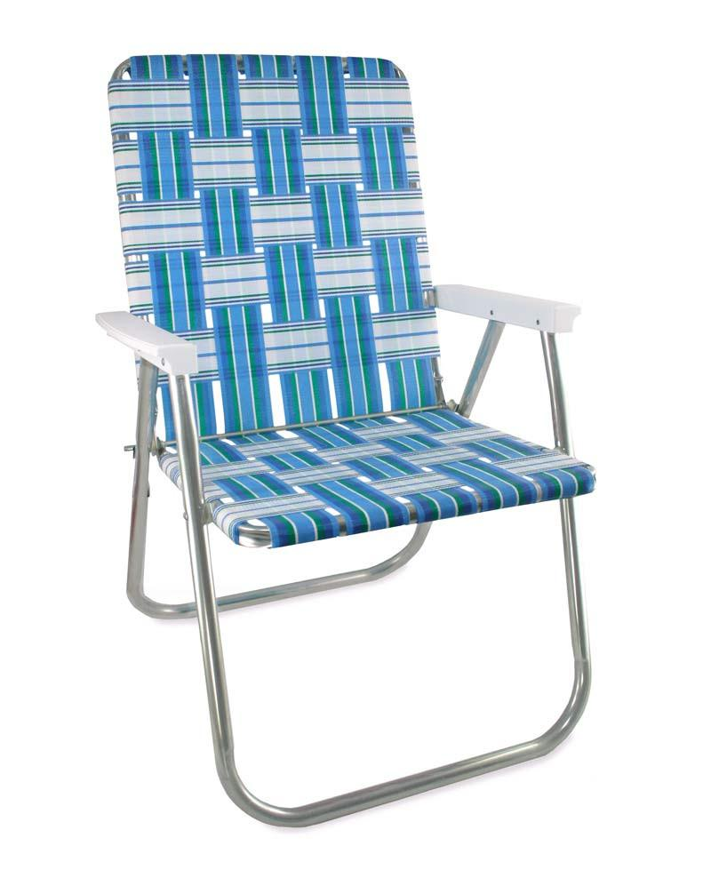Sea Island Folding Aluminum Webbing Lawn & Beach Chair Deluxe