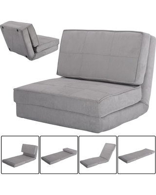 Convertible Lounger Folding Sofa Sleeper Bed