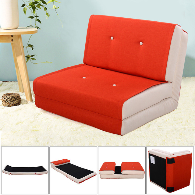 Giantex Folding Sofa Bed Modern Convertible Split-Back Linen Futon Lovesear  Sofa Chair Living Room