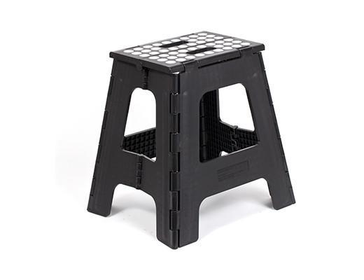 Step Stool Folding Tall Black u2013 Kikkerland Design Inc