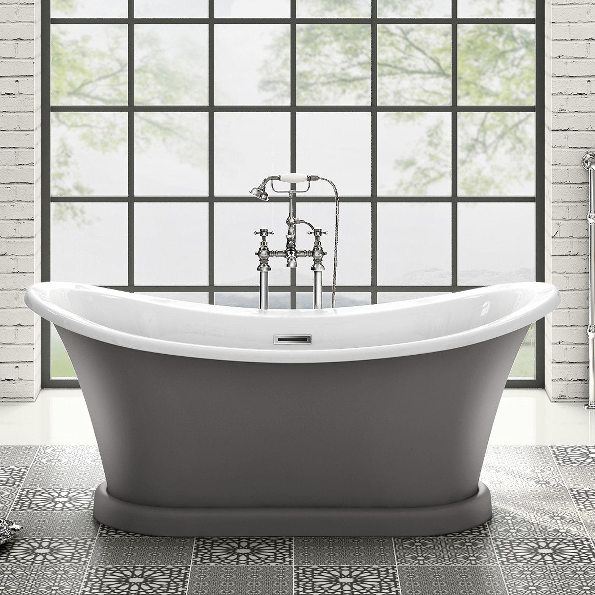 York Grey Bathtub