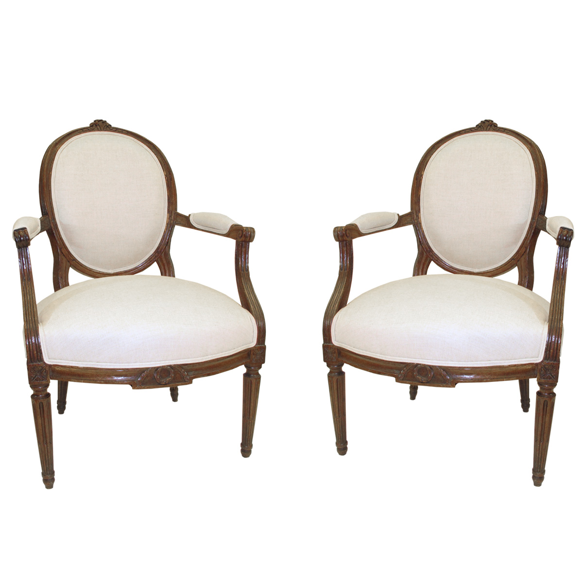 Pair of French Armchairs - Louis XV Regency Traditional Armchairs & Club  Chairs - Dering Hall