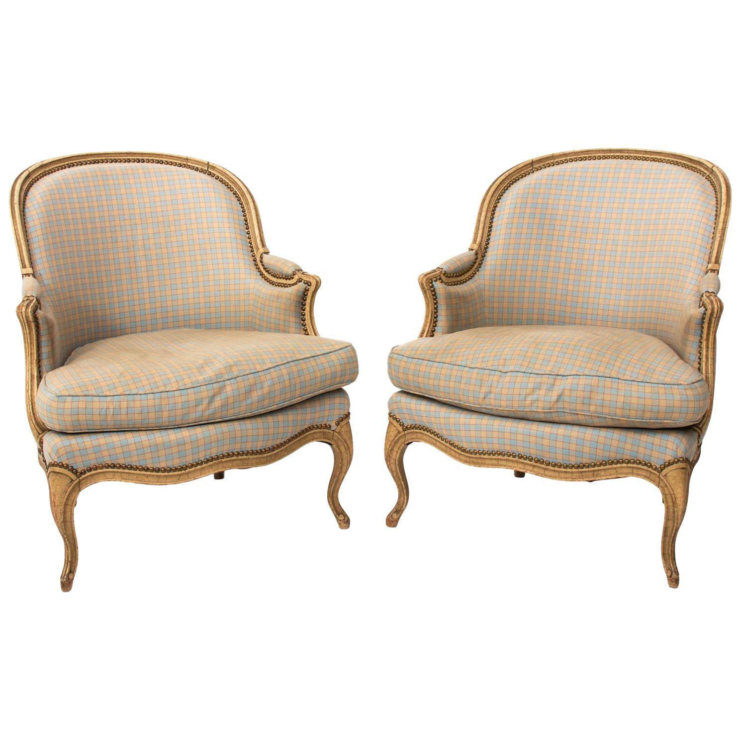Pair of French Armchairs For Sale