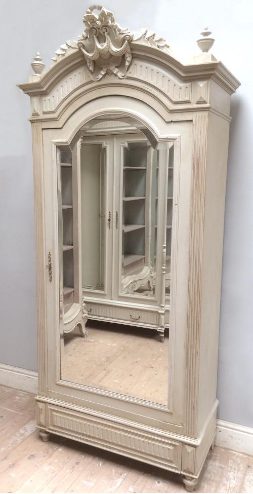 french antique single door armoire