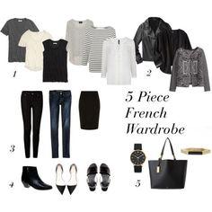 5 piece French Wardrobe French Capsule Wardrobe, Travel Wardrobe, New  Wardrobe, French Wardrobe