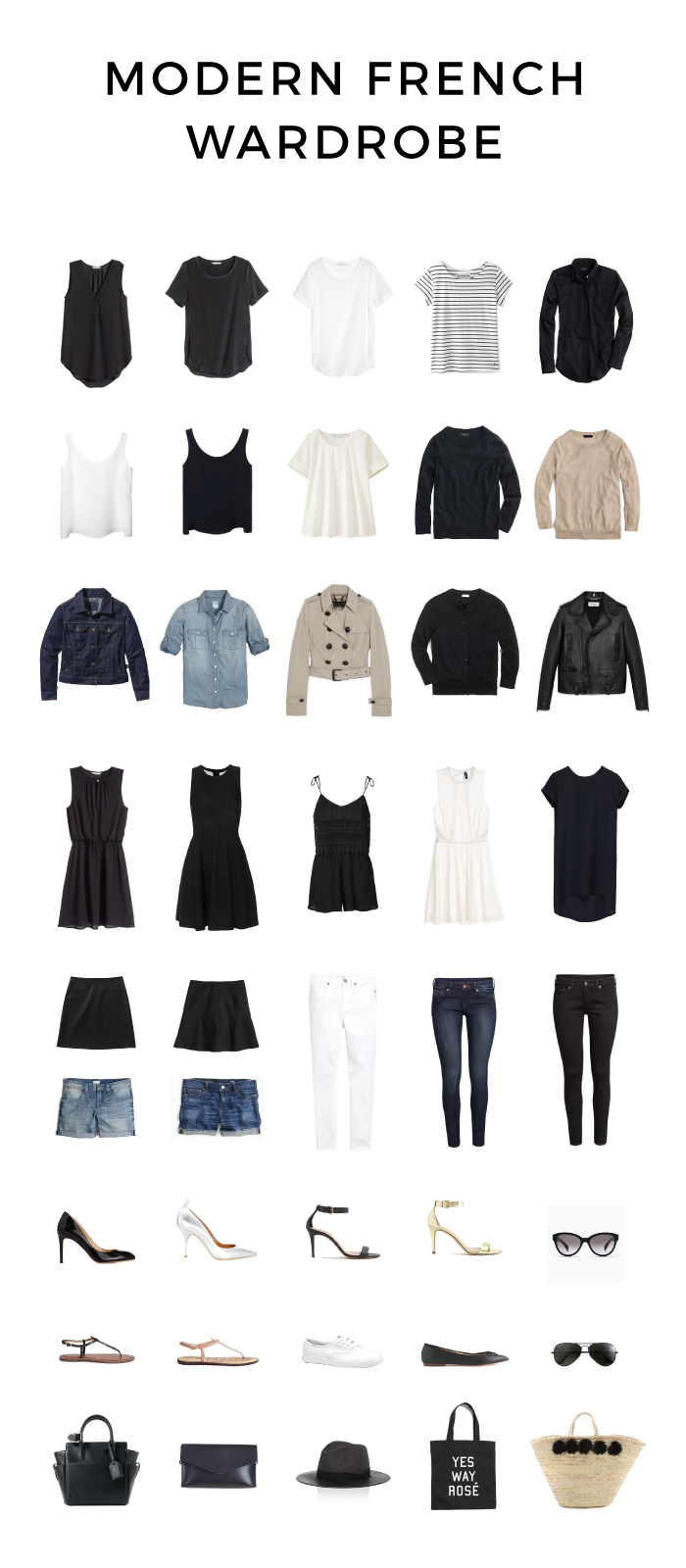 Modern French Wardrobe for Spring and Summer | Traveller Location