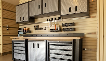 Items to store in garage cabinets: