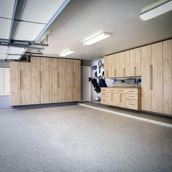 Wood Cabinets In Home Garage Storage Ideas