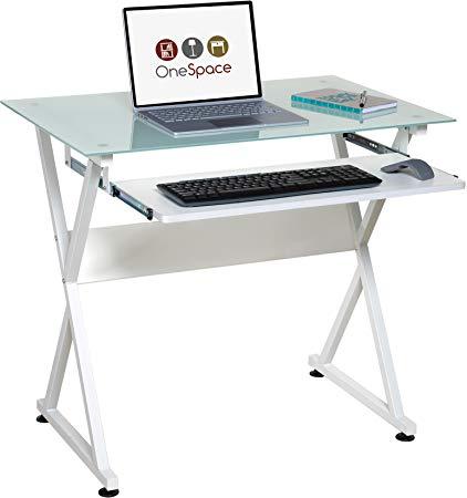 Amazon.com: OneSpace 50-JN1201 Ultramodern Glass Computer Desk White