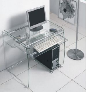 Boxey Clear Glass Computer Desk in 2019 | Home sweet home & Decor