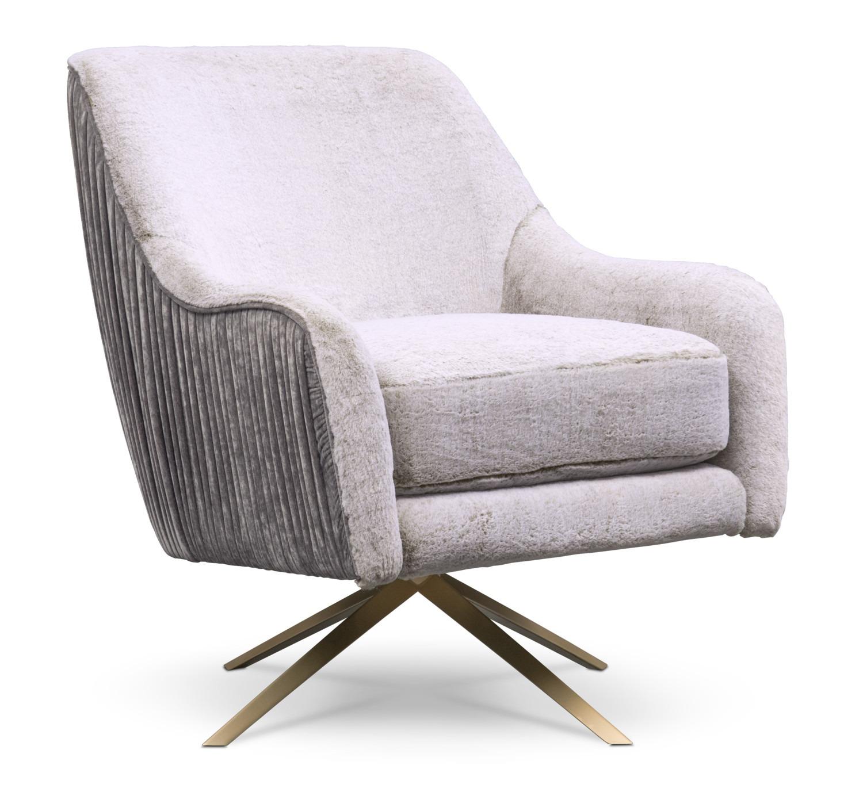 Tap to change Margot Swivel Chair - Gray