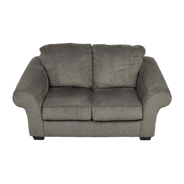 54% OFF - Ashley Furniture Ashley Furniture Makonnen Grey Loveseat / Sofas