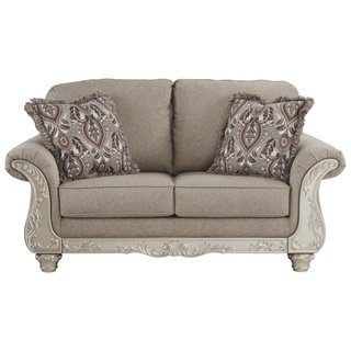Signature Design by Ashley, Gailian Traditional Smoke Gray Loveseat