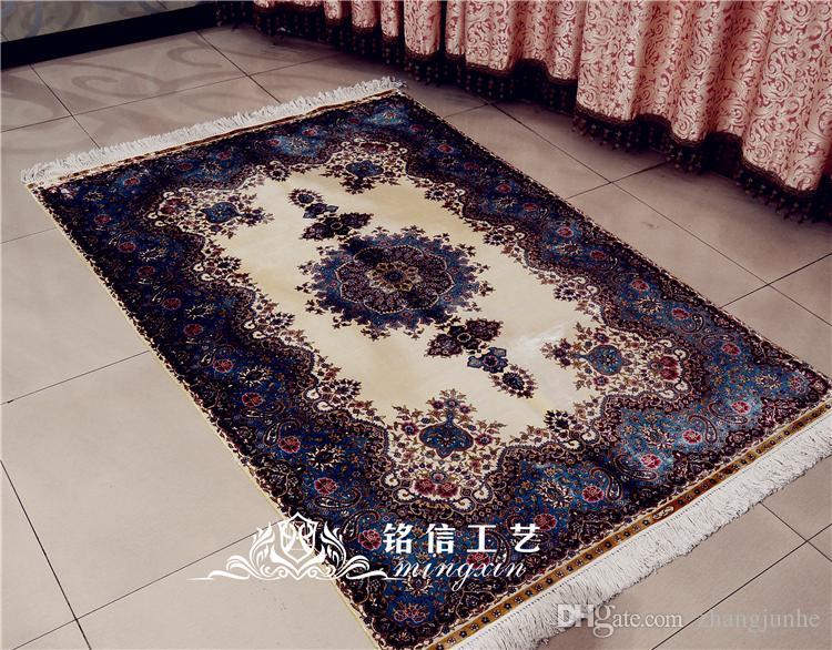 Mingxin Carpet 4x6 Feet Flower Hand Woven 100% Silk Carpet Handmade Carpet  Tile And Rugs Persian Art Silk Shaw Rugs Afghan Rugs From Zhangjunhe,