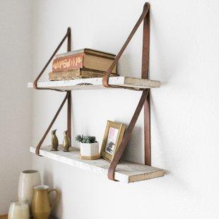 Littleton Hanging 2 Piece Wall Shelf Set