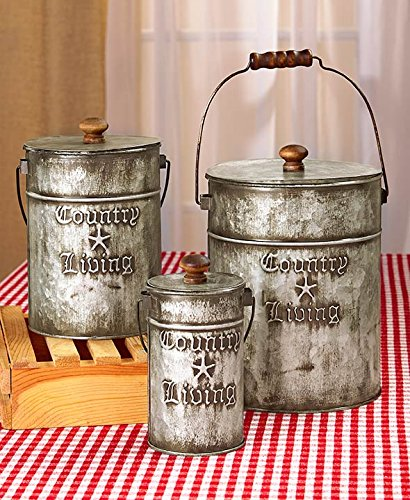 Traveller Location: Country Living Set of 3 Canisters Home Accent: Kitchen & Dining