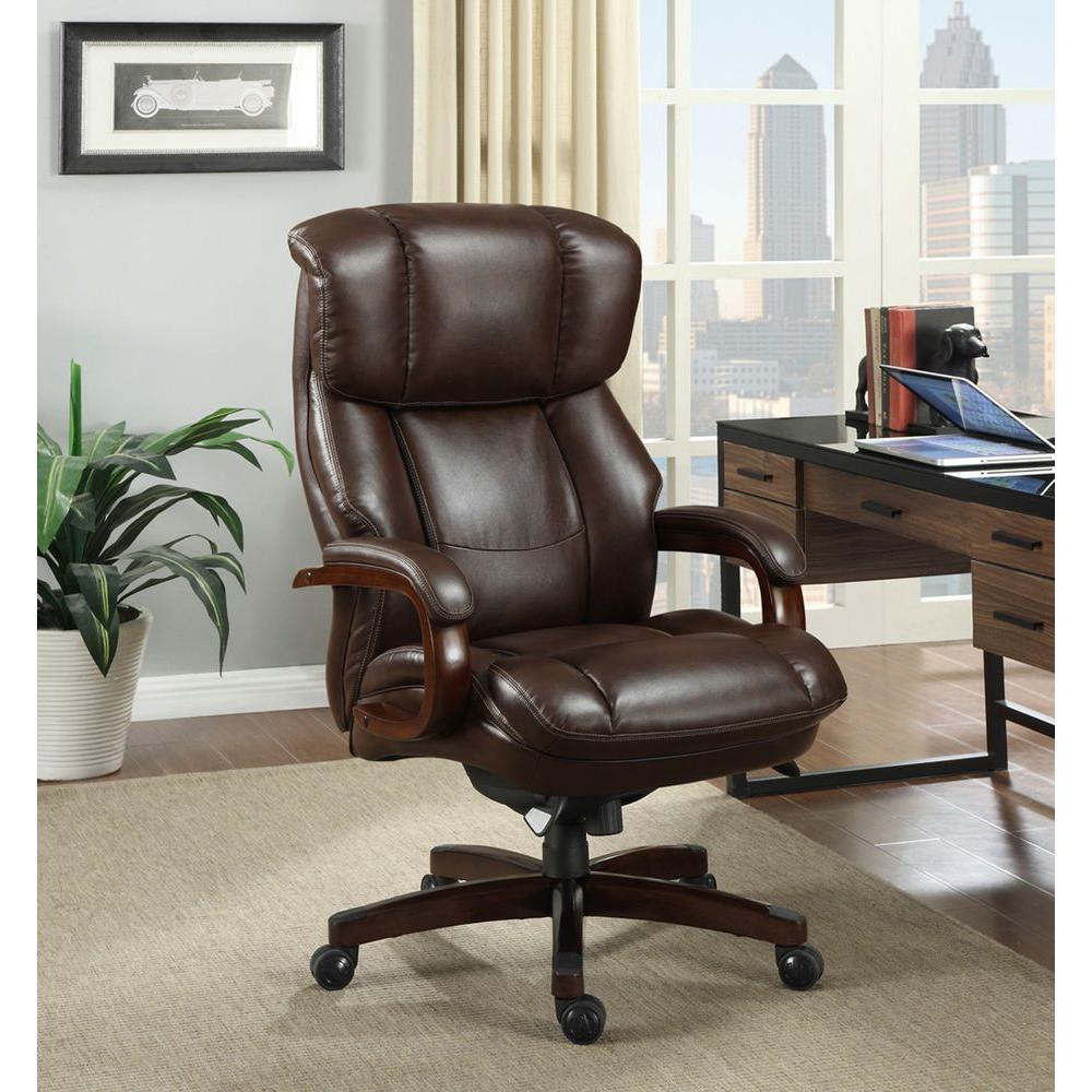 La-Z Boy Fairmont Biscuit Brown Bonded Leather Executive Office Chair