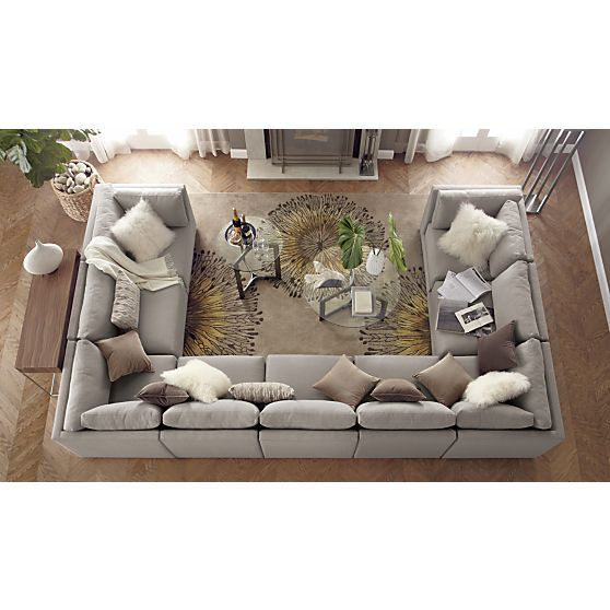 love this huge couch! Moda 9-Piece Sectional Sofa in Sectional Sofas