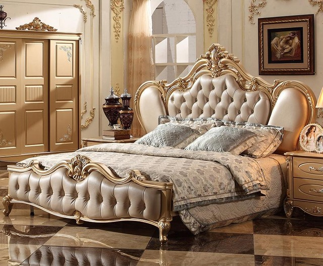 French Classic Italian Provincial Bedroom Furniture Set