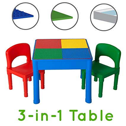 Play Platoon Kids Activity Table Set - 3 in 1 Water Table, Craft Table and