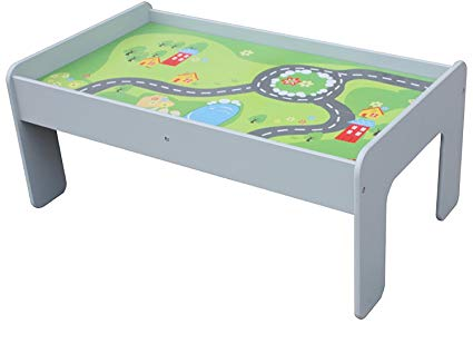 Pidoko Kids Train Table, Grey - Perfect Toy Gift Set for Boys & Girls (