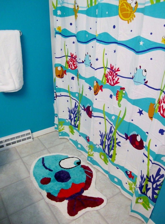 Inspiring Sea Decor Inspiration For Your Bathroom Decor Ideas With Sea  Themes Blue Curtain