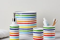 Rainbow Stripe Bath Accessories