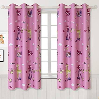 BGment Kids Blackout Curtains - Grommet Thermal Insulated Room Darkening  Printed Animal Patterns Nursery and Kids