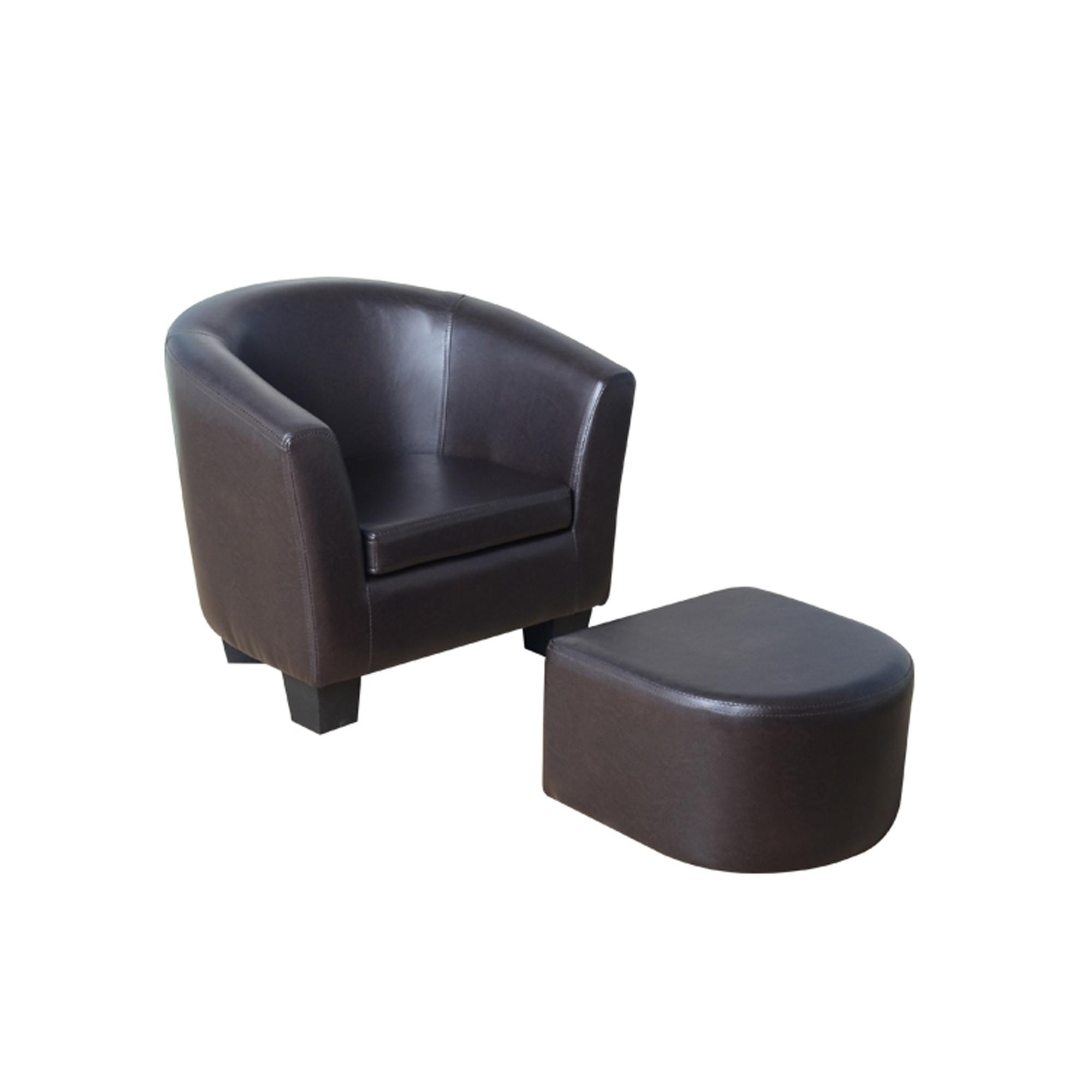 Kids Brown Tub Chair and Footstool