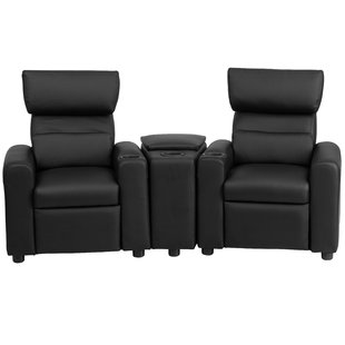 Kids Leather Recliner with Storage Compartment and Cup Holder