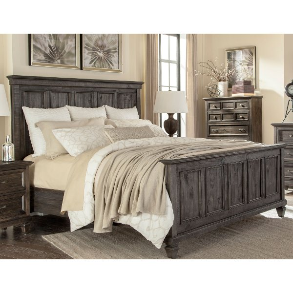 Classic Charcoal Gray King Size Bed - Calistoga