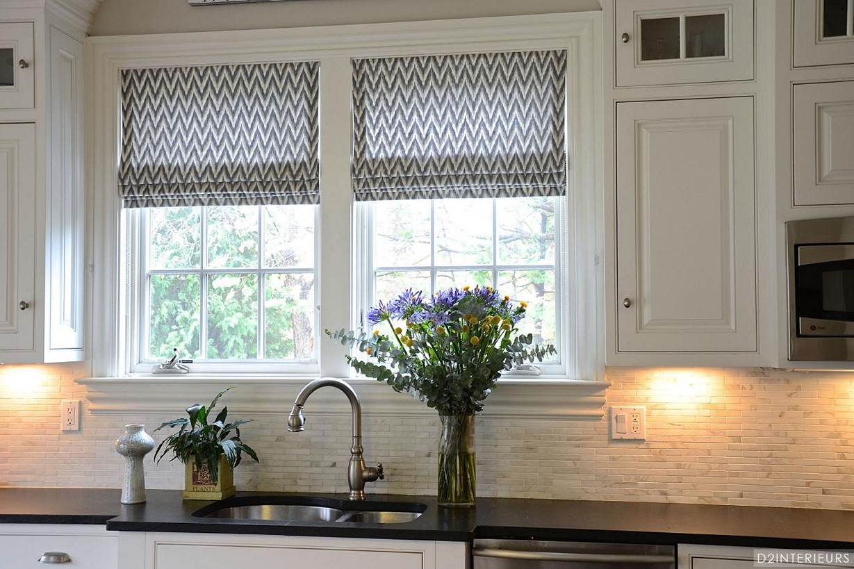 Black And White Kitchen Curtains Ideas