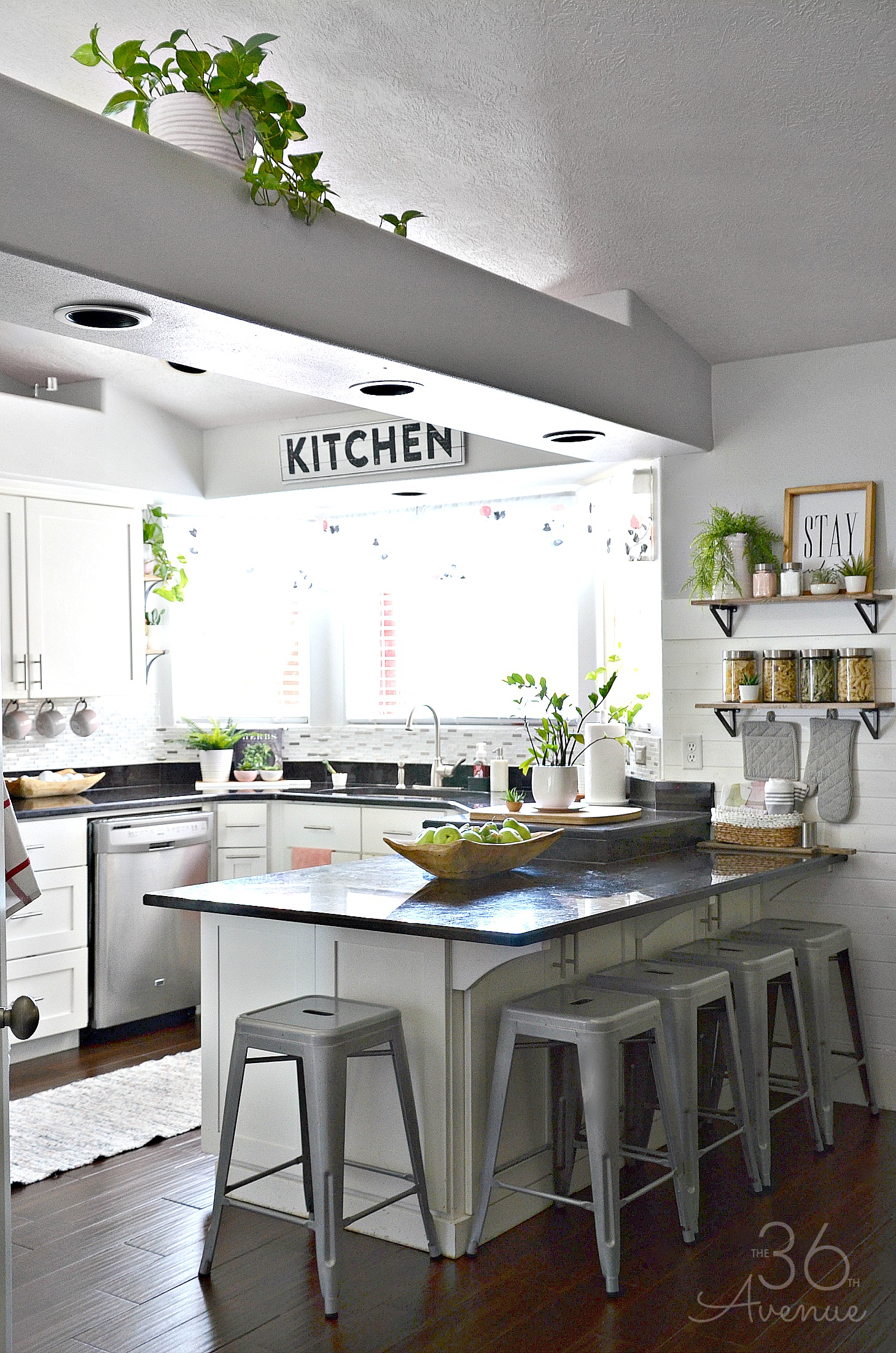 White Kitchen Decor Ideas - How to add color to a white kitchen.