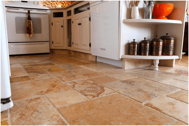 Granite Tile Kitchen Flooring