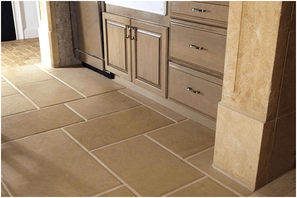 Sandstone Tile Kitchen Flooring