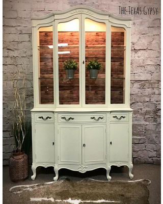 Farmhouse Hutch, French Provincial China Cabinet, Hutch, Kitchen Hutch,  Kitchen Cabinet,