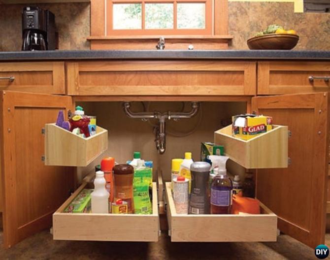 DIY Under-Sink Storage-16 Brilliant Kitchen Storage Solutions You Can Make  Yourself
