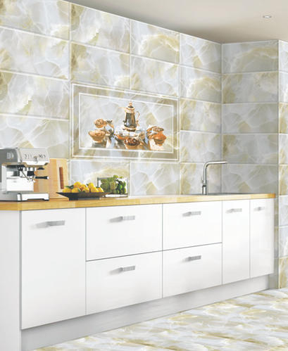 Digital Ceramic 10x15 Kitchen Wall Tiles, Thickness: 8 - 10 mm