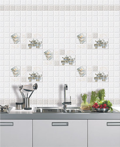 Digital Ceramic 10x15 Kitchen Tiles, Thickness: 8 - 10 mm