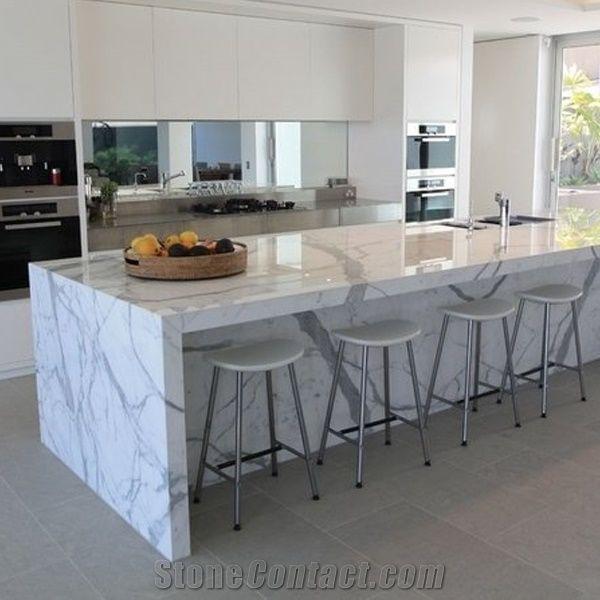 Calacatta Carrara White Marble Counter Top/Kitchen Tops/Natural Marble  Kitchen Bench Countertop-Customized