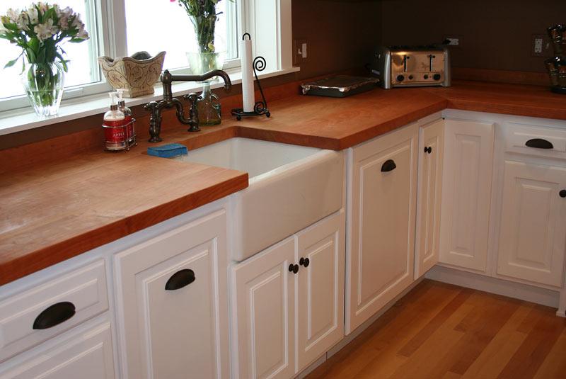 Cherry Wood Kitchen Countertops in Chicago