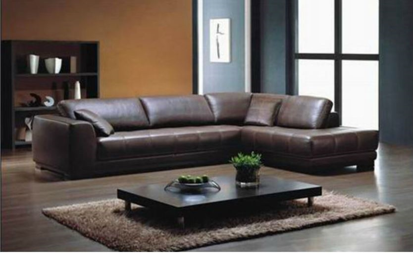Large L shaped sectional sofa, Brown sectional sofa, brown leather sectional,  brown leather
